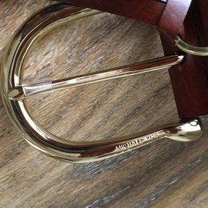 Michael Kors Accessories - Michael Kors Brown Leather Woven Belt